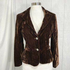 Cache Vintage Womens 4 Small Jacket Blazer Velvet